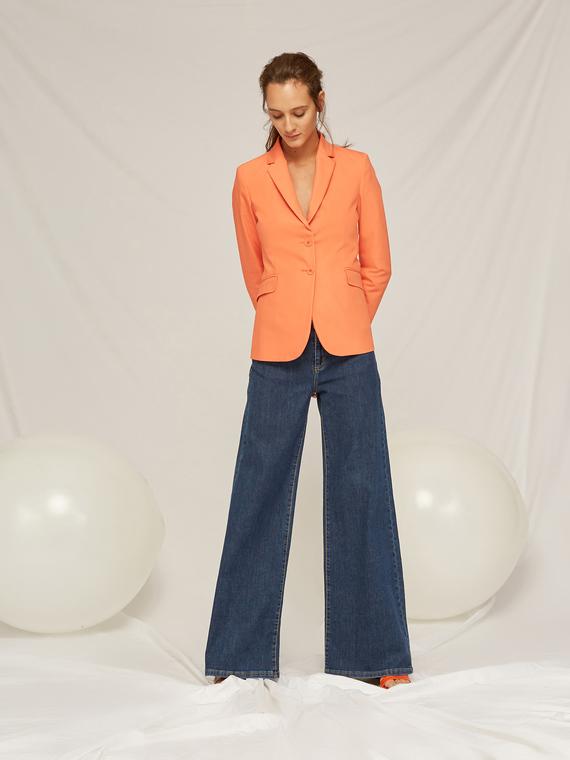 Caractere Cappotti e giacche > Giacche e blazer Arancione - Caractère Giacca blazer in cotone Donna Arancione