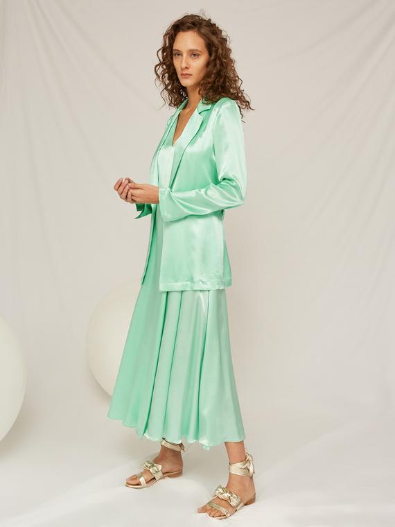 Caractere Cappotti e giacche > Giacche e blazer Verde - Caractère Giacca in raso Donna Verde