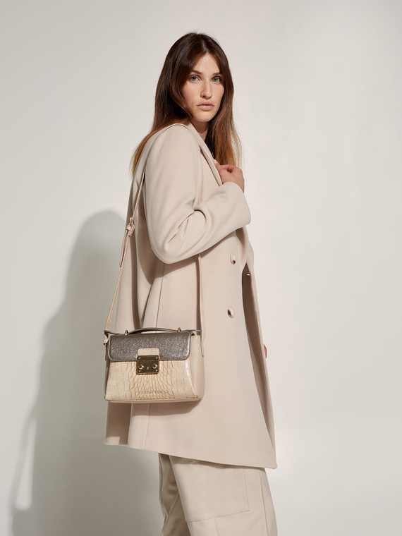 Caractere New season preview Beige - Caractère Borsa a tracolla multitasche stampa cocco Donna Beige