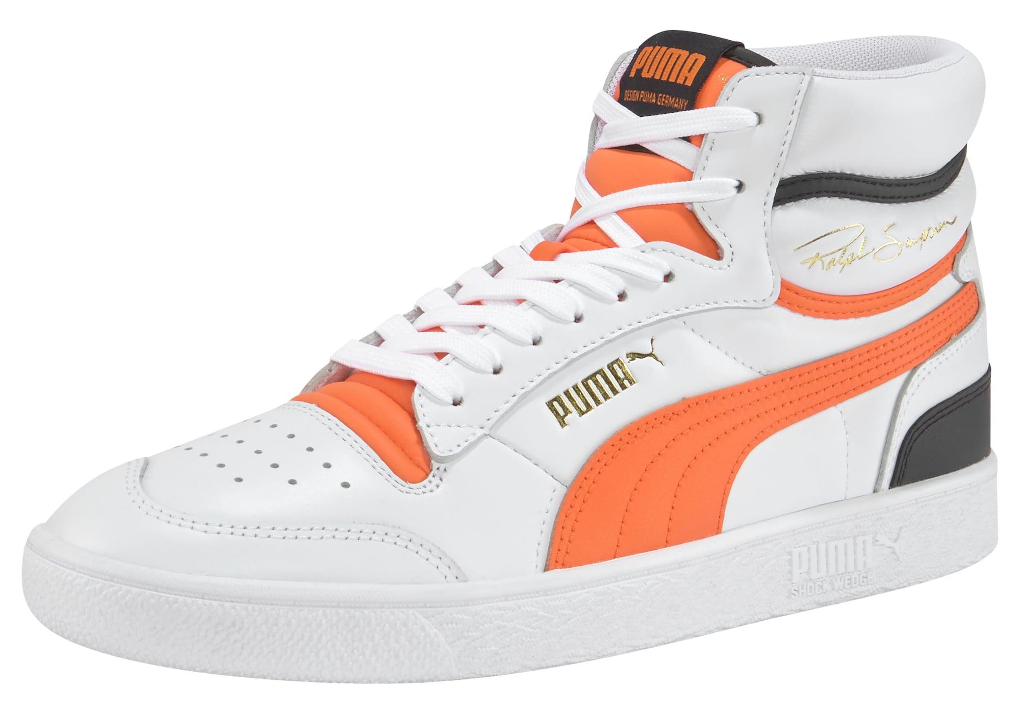 PUMA Sneaker alta  bianco / arancione / nero male shop the look