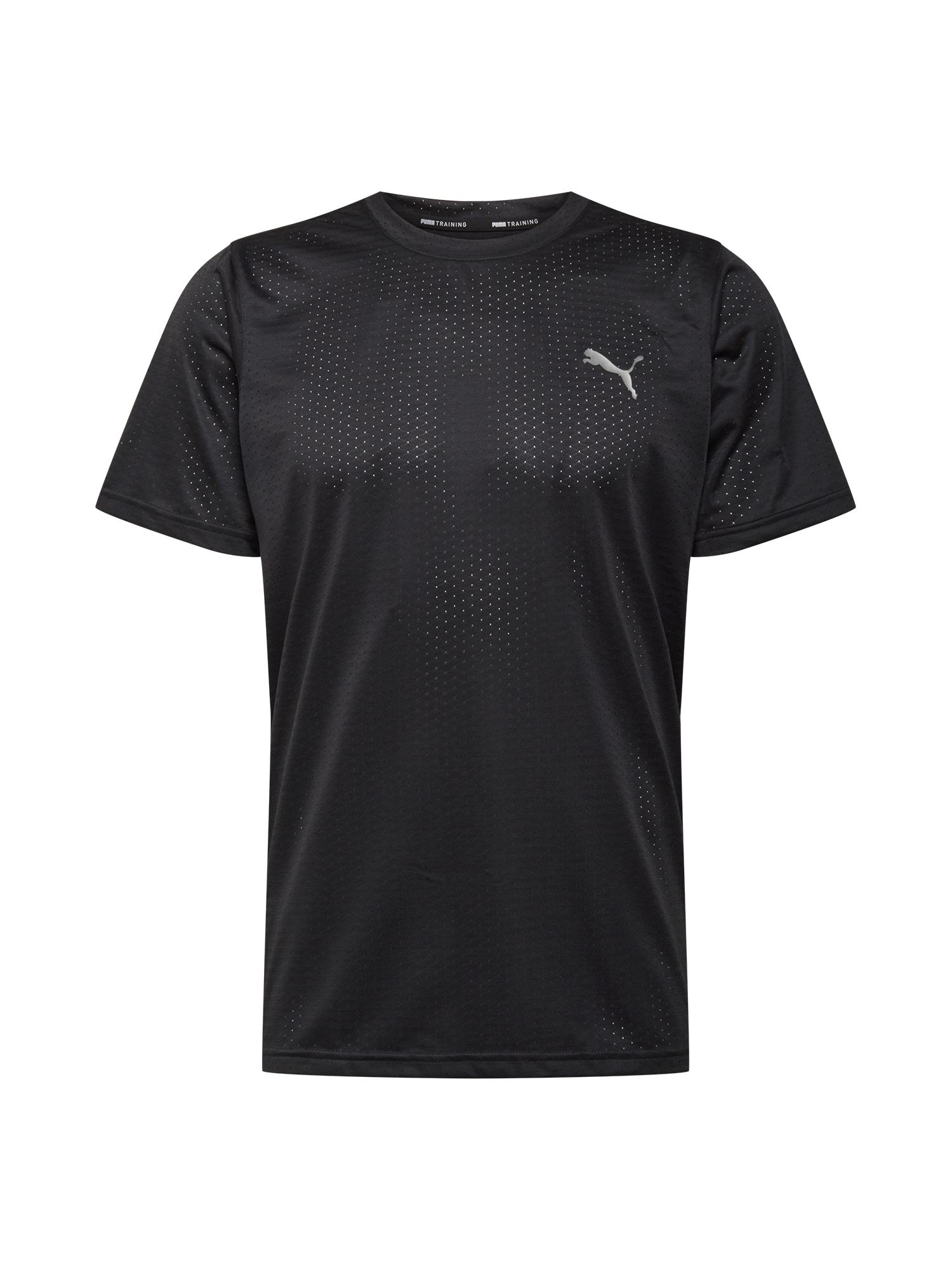 PUMA Maglia funzionale  nero / grigio chiaro male shop the look