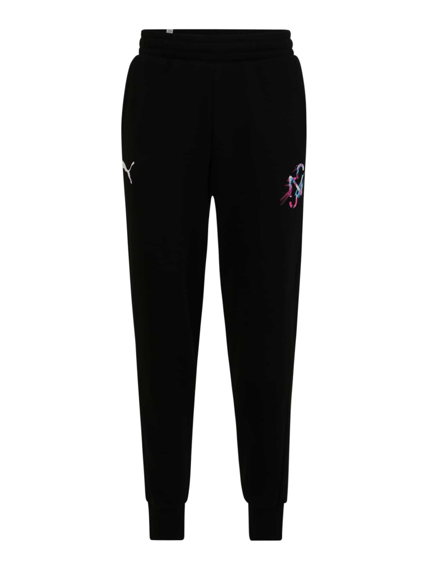 PUMA Pantaloni sportivi  nero / colori misti male shop the look