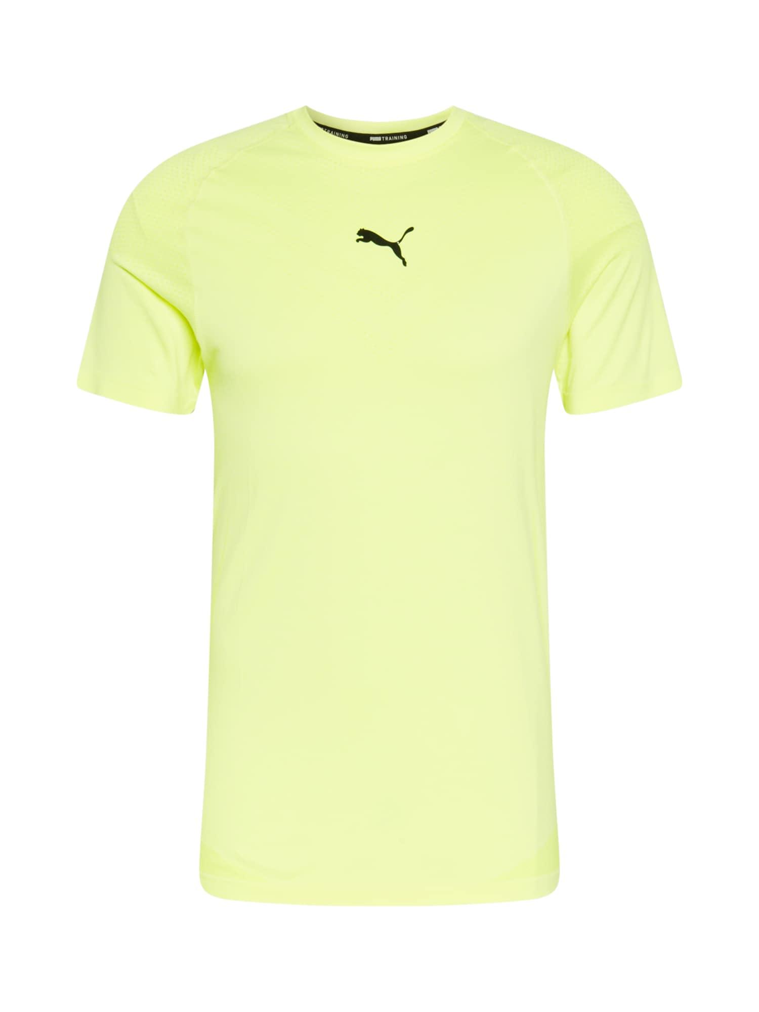 PUMA Maglia funzionale 'TRAIN TECH EVOKNIT'  giallo neon / nero male shop the look