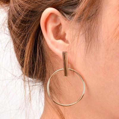 2016 New Korean Simple Aros Hoop Earrings for Women Geometric Big Circle Ear Hoop Earrings Brincos Jewelry XRE01