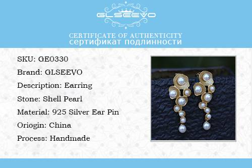 White Shell Pearl Drop Earrings