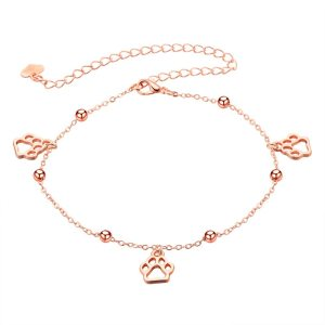 Dog Cat Paw Print Anklet