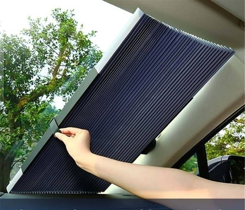 Car Retractable Windshield Anti-UV Car Window Shade Car Front Sun Block Auto Rear Window Foldable Curtain 46/65/70/cm Sunshade™
