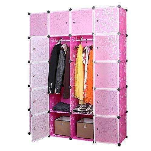 20 Cubes Plastic Wardrobe – Pink