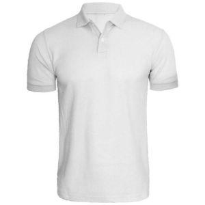 Men's Plain Polo Shirt – Black, L