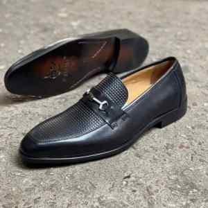 Dannino Front Embossed Belt Loafer