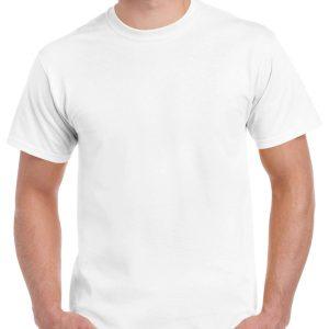 White Gildan Plain T-Shirt