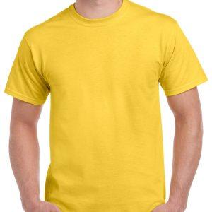 Daisy Yellow Gildan Plain T-Shirt