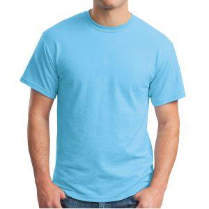 Sky Blue Gildan Plain T-Shirt