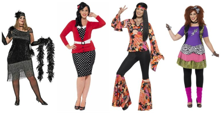 plus size kostume 1920erne kostume 1950erne kostume 1960erne kostume 1980erne kostume xxl xxxl - Plus size kostumer