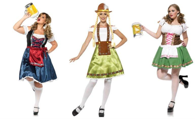 plus size kostume oktoberfest kostume XXL XXXL plus size kostume til oktober fest bierfest kostume i stor størrelse - Plus size kostumer