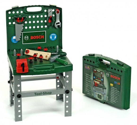 arbejdsbænk til børn børneværksted værktøjsbænk til børn plastik bosch grøn redskabsbænk arbejdsbænk gave til 2 årig dreng gave til 3 årig dreng