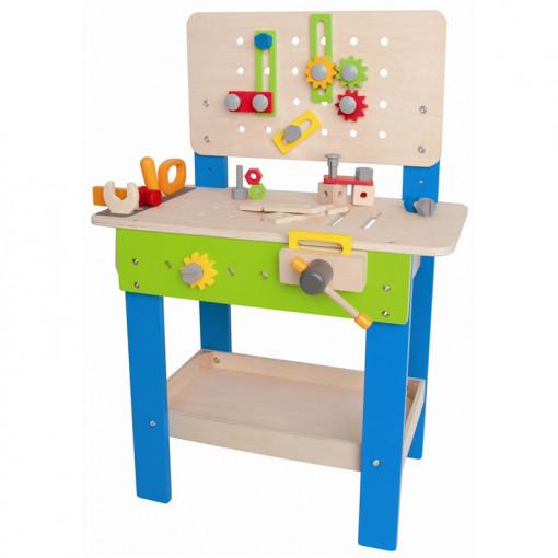 arbejdsbænk til børn børneværksted værktøjsbænk til børn trælegetøj hape arbejdsbænk gave til 2 årig dreng gave til 3 årig dreng