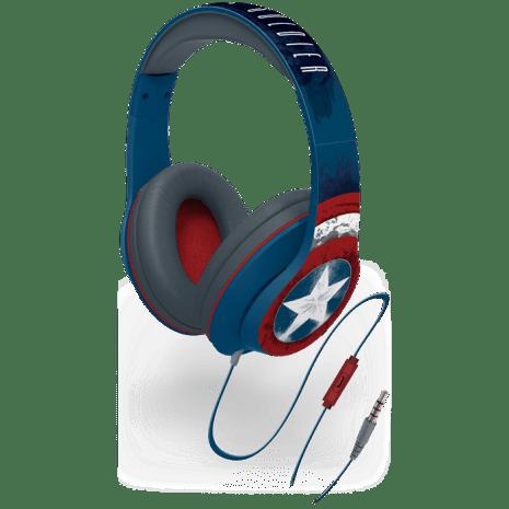 høretelefoner til børn superhelte headset til børn marvel høretelefoner captain america høretelefoner til børn blå høretelefoner til børn marvel hørebøffer høretelefoner - Guide til høretelefoner til børn