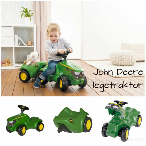 john deere legetraktor john deere skubber john deere rolly minitraktor john deere gåbil med anhænger gave til 1 årig gave til 2 årig grøn traktor 600x600 - John Deere køretøj