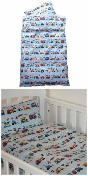 junior sengetøj med gravko sengetøj med biler sengetøj med gravemaskiner sengetøj med entreprenørmaskiner sengetøj til drenge
