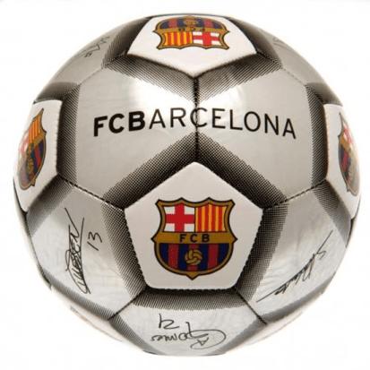 barcelona fodbold læder str 5 fodbold med barcelona logo gave til barca fan gave til fodbolddreng