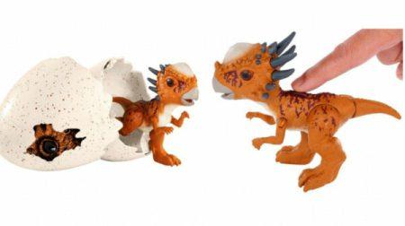 dino æg dinosaur æg Flot dinosaur æg med lille Stygimoloch Stiggy dino legetøj 600x336 - Vild med dinosaurus?