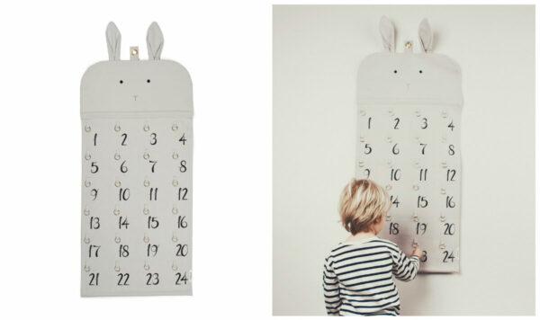 liewood pakkekalender ophæng i stof liewood julekalender i stof ophæng 24 ringe 24 lommer til pakker 600x356 - Pakkekalender ophæng