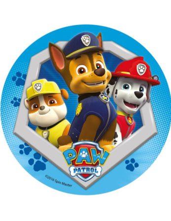 paw patrol kagedekoration paw patrol lagkage nem paw patrol kage børnefødselsdag sukkerprint med paw patrol 3 hunde 463x600 - Nem Paw Patrol kage til Paw Patrol fødselsdag