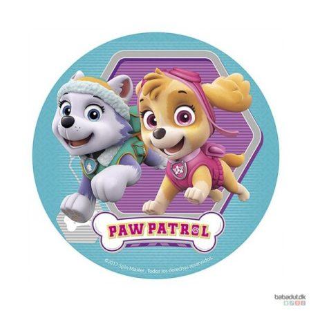 paw patrol kagedekoration paw patrol lagkage nem paw patrol kage børnefødselsdag sukkerprint med paw patrol lilla skye 600x600 - Nem Paw Patrol kage til Paw Patrol fødselsdag
