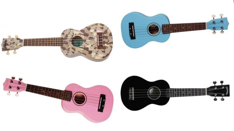 ukulele til børn børnevenlig ukulele pink ukulele blå ukulele sort ukulele