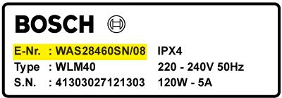 Bosch e nr sådan finder du e nummer på din bosch vaskemaskine - Kul til Bosch vaskemaskine motor - til alle modeller