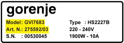 Gorenje vaskemaskine modelnummer - Kul til Gorenje vaskemaskine motor - til alle modeller