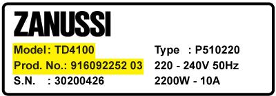 Zanussi modelnummer - Zanussi vaskemaskine dørlås og lågerelæ