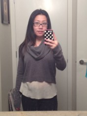 Ok, I got this from my sister-in law for Christmas but it's still new clothes! BCBG Samira crop sweater