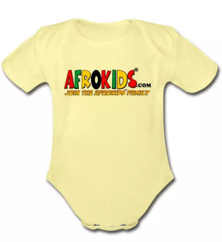 Yellow Onesie with Afrokid Logo