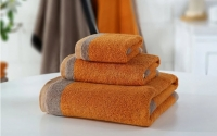 Piedra orange towel set