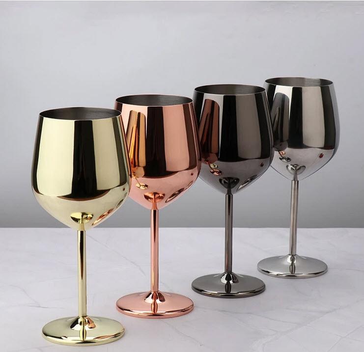 Seville stainless steel wine glasses