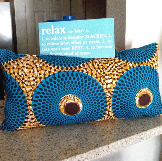 African oblong pillow