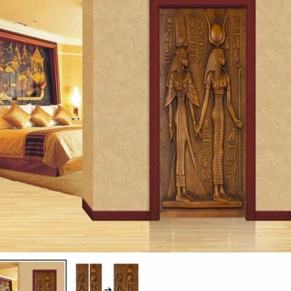 Egyptian door covering