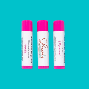 Chapstick made with Shea butter and vitamin E oil.