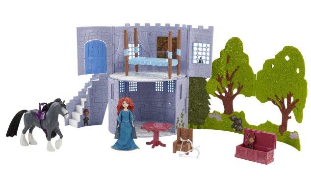 Brave Gem Styling Merida Doll & Brave Castle & Forest Playset