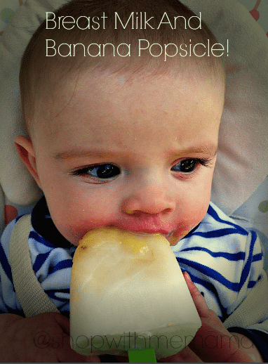 breast milk and banana popsicles