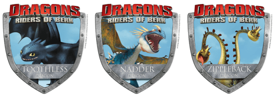Dragons riders of berk badges
