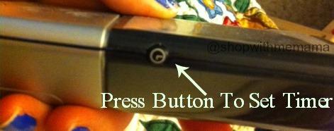 sleep number dualtemp timer button