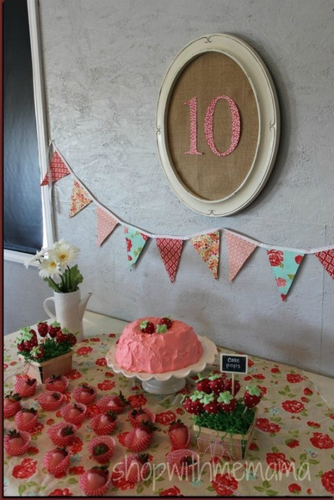 How to have a strawberry themed birthday party - Strawberry themed kitchen decor ...