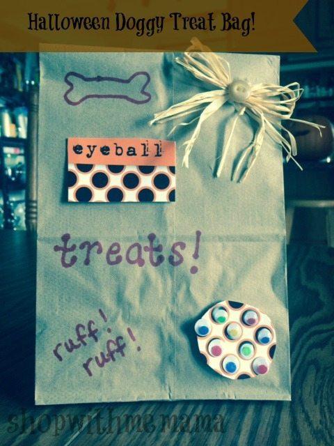 DIY Halloween dog treat bag