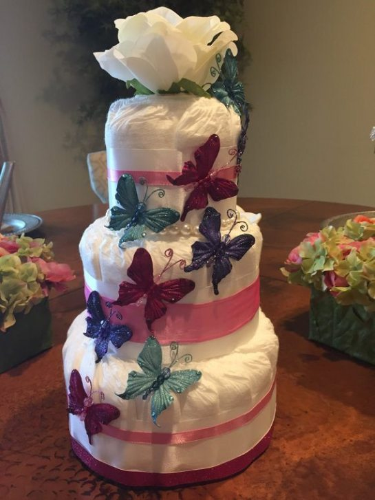 diaper cakes by Nadia