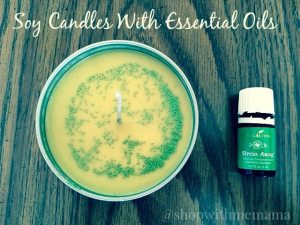 Making Soy Candles With Essential Oils #DIY #Glitter #Candles