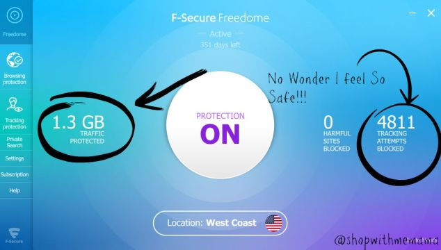 F-Secure Freedome Keeps Me Safe Online! #PrivacyIsNoGame