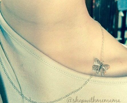 Dainty Butterfly Necklace By HLcollection